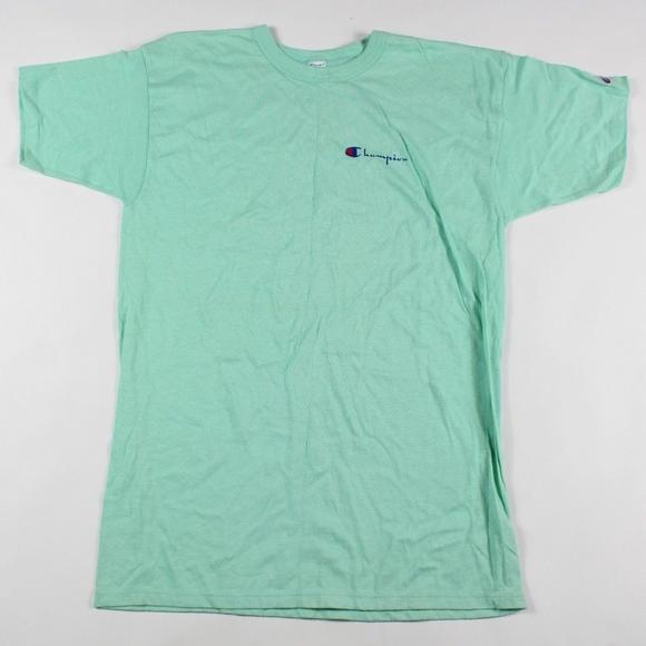 c8c0b13e2 Champion Shirts | Vintage Spell Out Jersey Knit Shirt Mint | Poshmark
